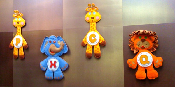 Image of PHCQ toys on the wall